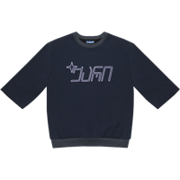 Qari & Star Raw Cut Sweatshirt W Purple Print